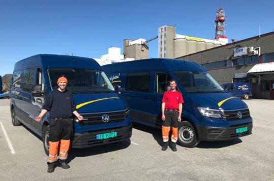 Bilde for To nye Volkswagen Crafter til Nærtenesten i Florø